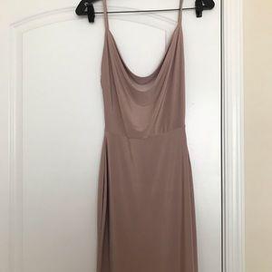 Sexy form fitting spaghetti strap dress